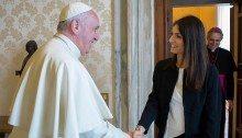 Pope Francis meets Virgina Raggi